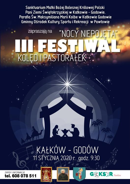"""Zapraszamy na III Festiwal Kolęd i Pastorałek """"Nocy Niepojęta"""""""